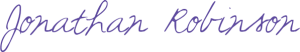 Jonathan Robinson signature