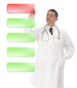 doctor in white coat writing positive psychology definition