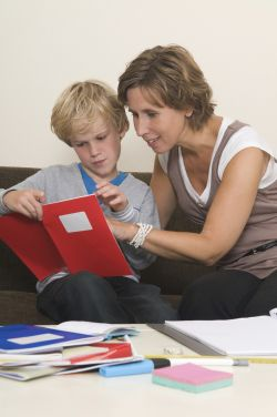mother using her traits to help son showing positive psychology in practice