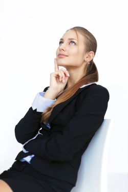 woman thinking about positive psychology exercises